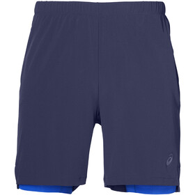 asics 2-N-1 Hardloop Shorts Heren, indigo blue/illusion blue